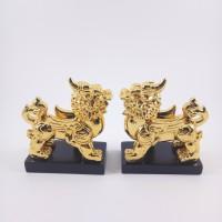 PATUNG SEPASANG PIXIU GOLD