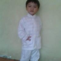 TERBATAS HOT PROMO baju koko stelan putih anak 2 dan 3 tahun HOT PRODU