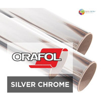 LIMITED EDITION Sticker Oracal 351 Silver Chrome Polyester Film TERJAM