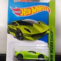 Hotwheels hot wheels Lambo Lamborghini Sesto Elemento Green Hijau Muda