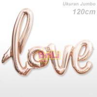 Balon Foil Love Rose Gold Tulisan Latin Ukuran Jumbo