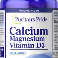 (120 Caplets) PURITAN Calsium Magnesium with Vitamin D USA