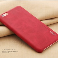 Casing HP Apple iPhone 6/6S Plus: Vintage X-level Red Leather Case