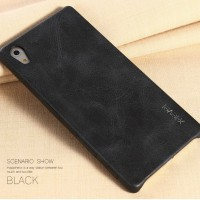 Casing HP Sony Xperia Z5: Vintage X-level Black Leather Phone Case