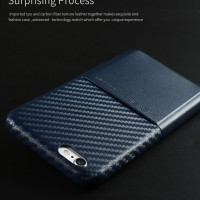 Casing HP Apple iPhone 6/6S: Card Case X-level Blue Leather Luxury