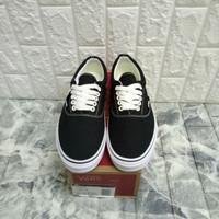 sepatu vans era canvas classic black white miror quality