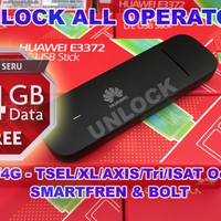 Modem 4G Huawei E3372 150Mbps UNLOCK All Operator [BEST SELLER]
