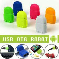 OTG Robot android micro usb adapter flashdisk converter data hp mobile