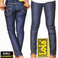 Celana Jeans Lois Wanita Skinny Warna Biru Dongker Berat 700 Gram Size