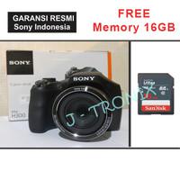 Camera Sony DSC H 300 H300 Prosumer Kamera Semi SLR 20MP Resmi Free SD