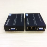 VGA EXTENDER UTP CAT5E/6 up to 300m + Audio [ NETLINE ]