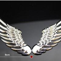 jual sticker metalik mobil bentuk sayap elegan mewah