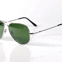 Kacamata Sunglasses AMERICAN OPTICAL AO Pilot Skymaster Silver