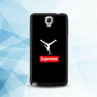 Casing Samsung Galaxy Note 3 Neo Supreme x Jordan Black X4913