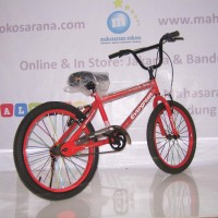 Harga terlaris 20in evergreen b1 hi ten steel sepeda bmx red kado | Pembandingharga.com