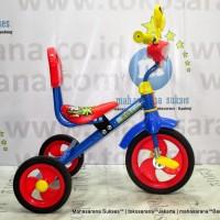 Harga best seller pmb 920 safari musik sandaran sepeda roda tiga bmx blue | Pembandingharga.com