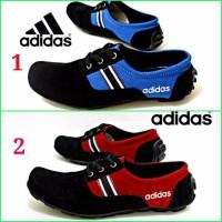 Harga sepatu casual santai keren pria adidas semi slip on slop tali | Pembandingharga.com