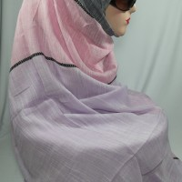 Pashmina Arka Linen Paduan Tiga Warna Pastel (C & Z Long Scarf)