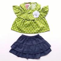 Baju Setelan Anak Bayi Perempuan Sabrina Polkadot Rok J Murah