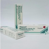 Thecort Krim (Miconazole nitrate 2% Hydrocortisone 1%) Isi 5 Gram/Tube