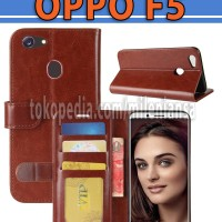 Flip Cover Oppo F5 Leather Case Wallet Card