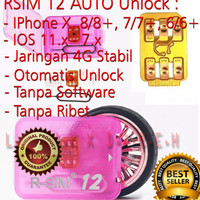 ORIGINAL R-SIM 12 AUTO UNLOCK IPHONE X, 8|8+ 7|7+ 6|6+ 5|5S RSIM12