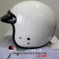 Jual CARGLOSS Helm CF RETRO| Super Whity White | Half Face CARGLOS