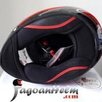 Jual KBC Helm VK EURO| RED~ Black Grey | Fullface DDring Visor Flat