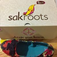 Sakroots Canvas Flat Shoes Original Black/ Sepatu Kanvas Hitam