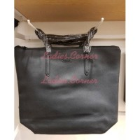 SIMPEL TOTE BAG SHOULDER BLACK MINISO (LOOK A LIKE LACOSTE) #LC