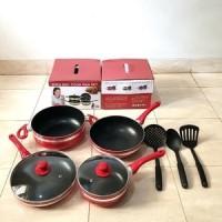 Panci Supra Set 7 pcs spt set pan eco cookware oxon anti lengket