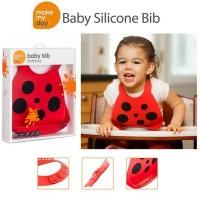 Make My Day Silicone Bib - Ladybug