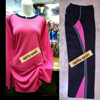 Grosir Stelan Baju Olahraga Muslim Kaos Olahraga Muslimah Pink Fanta