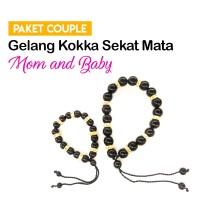 Gelang Couple Ibu-Bayi/anak Sekat Mata Emas Tali Nilon-Tangan Kaki