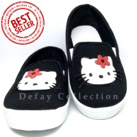 Sepatu Casual Anak Murah | Sepatu Anak Perempuan | Hello Kity Hitam