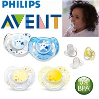 PHILIPS AVENT 2pcs Night Time Pacifier 0-6m Avent Soother Empeng Bayi