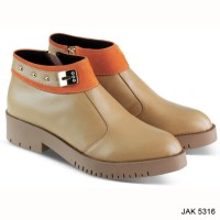 Boots wanita kulit super - Sepatu pantofel kerja-sepatu artis JKc