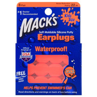 Mack's earplugs kids size waterproof soft moldable silicone putty