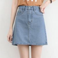 (#6153)Momoland Denim Skirt/Rok Jeans/Rok Mini/Rok Pendek