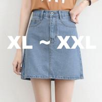 (#6153 XL/XXL)Momoland Denim Skirt/Rok Pendek/Rok Jeans/Rok Mini