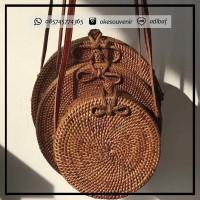 Jual Tas Rotan Etnik Rattan Bag Wanita anyam asli Lombok bali ate ata murah Murah
