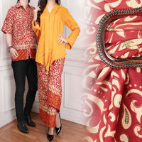 BAJU COUPLE KEBAYA CHARSA Baju Gamis Motif Batik Ukuran Jumbo Murah Cp