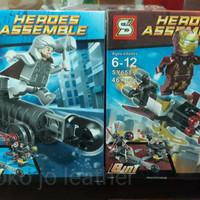 Jual Lego Bricks kw Avenger Marvel Xmen merk SY/Bagus murah Promo legocina Murah