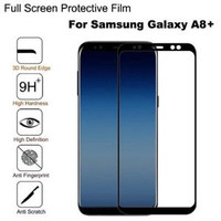 Tempered GLASS FULL LAYAR FOR SAMSUNG A8 2018 Dan A8 PLUS 2018