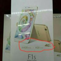 HP OPPO F1S PLUS 4/64 GB GARANSI RESMI 1 TAHUN (Rose gold & Gold)