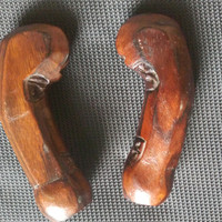 deder hulu handel gagang keris koden kayu sono