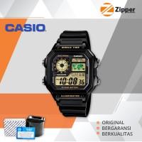 Casio Illuminator Jam Tangan Digital AE-1200WH-1BVDF Youth Series
