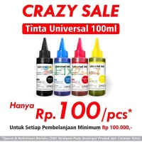 Tinta Refill Isi Ulang Botol Infus 100ml Printer HP Canon Epson Brothe