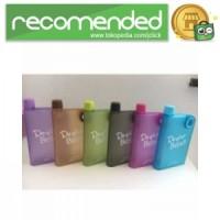 Memobottle Botol Minum Flat 380ml - Pink Matte