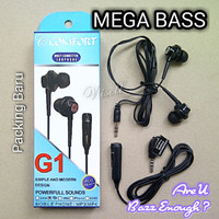 Headset Earphone Mega Bass BAZZOKA for Samsung Asus Lenovo Oppo Xiaomi